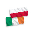 flags ireland and poland on a white background vector image