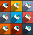 Flat Design UI Email Icons Set vector image