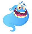 funny cartoon ghost laughing vector image vector image