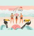 hand drawn abstract cartoon summer time vector image vector image