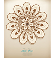 hand-drawn abstract flowers pattern vector image