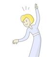 Happy Woman Dancing vector image