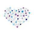 heart shape created from lines and dots vector image vector image