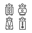 humidifier icon set vector image vector image