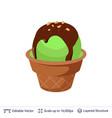 ice cream refreshing dessert vector image vector image
