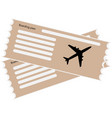 image of boarding pass by flat design vector image