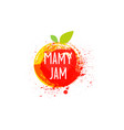 jam logo and emblem fresh fruits and splashes vector image vector image