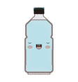 kawaii water bottle in colored crayon silhouette vector image vector image