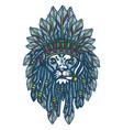lion head apache vector image vector image