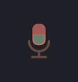 microphone computer symbol vector image vector image