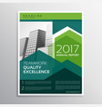 modern green arrow brochure design for your vector image