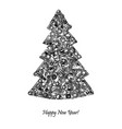 new year tree from hand tools unusual design for vector image