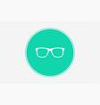 optic glasses icon sign symbol vector image