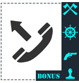 phone call outgoing icon flat vector image