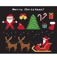 Pixel christmas symbols set vector image vector image