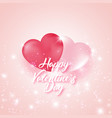 postcard to the celebration of valentine s day vector image vector image