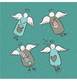 Postcard with cartoon angels vector image