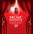 poster for music festival with microphone vector image vector image