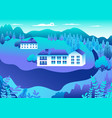 rural or urban landscape outdoor city or village vector image