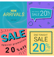 sale promotion and new arrivals banner pastel vector image vector image