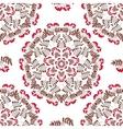Seamless Pattern Mandala Red Berries vector image vector image