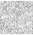 Seamless pattern with russian nesting dolls vector image