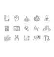 set black and white engineering design icons vector image