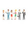 set business characters vector image