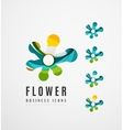 Set of abstract flower logo business icons vector image vector image