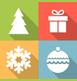 set of christmas icon vector image vector image