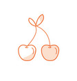 silhouette delicious and healthy cherry fruit vector image vector image