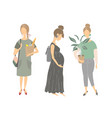silhouettes of girls young women vector image vector image