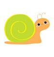 snail icon cute cartoon kawaii funny kids vector image vector image