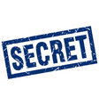 square grunge blue secret stamp vector image vector image