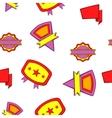 Sticker pattern cartoon style vector image vector image