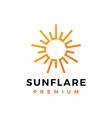sun flare light bright shine logo icon vector image