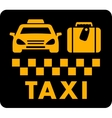 taxi blazon on black icon vector image vector image
