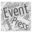 The Art Of Free Event Advertising Word Cloud vector image vector image
