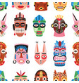 traditional ritual or ceremonial tribal masks vector image