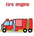 Transport of fire engine cartoon design vector image vector image