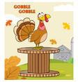 turkey bird cartoon character vector image vector image