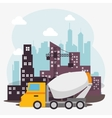 under construction machinery icon vector image