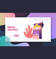 unhealthy habit smoking nicotine tobacco vector image vector image