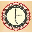 Vintage label-sticker cards of Chile vector image