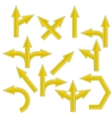 Yellow Arrows vector image vector image