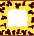 yellow viola garden pansy flower border vector image vector image