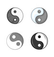 yin yang symbol icon set cartoon style vector image vector image