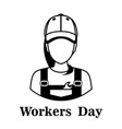 1st may - labor day logo poster banner brochure vector image vector image