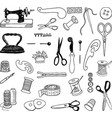 a set equipment for sewing atelier vector image