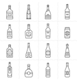 Aalcohol bottles icon set vector image vector image